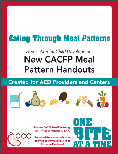 Tools Assessments Food Charts CCFP Roundtable Conference Custom Cacfp New Meal Pattern